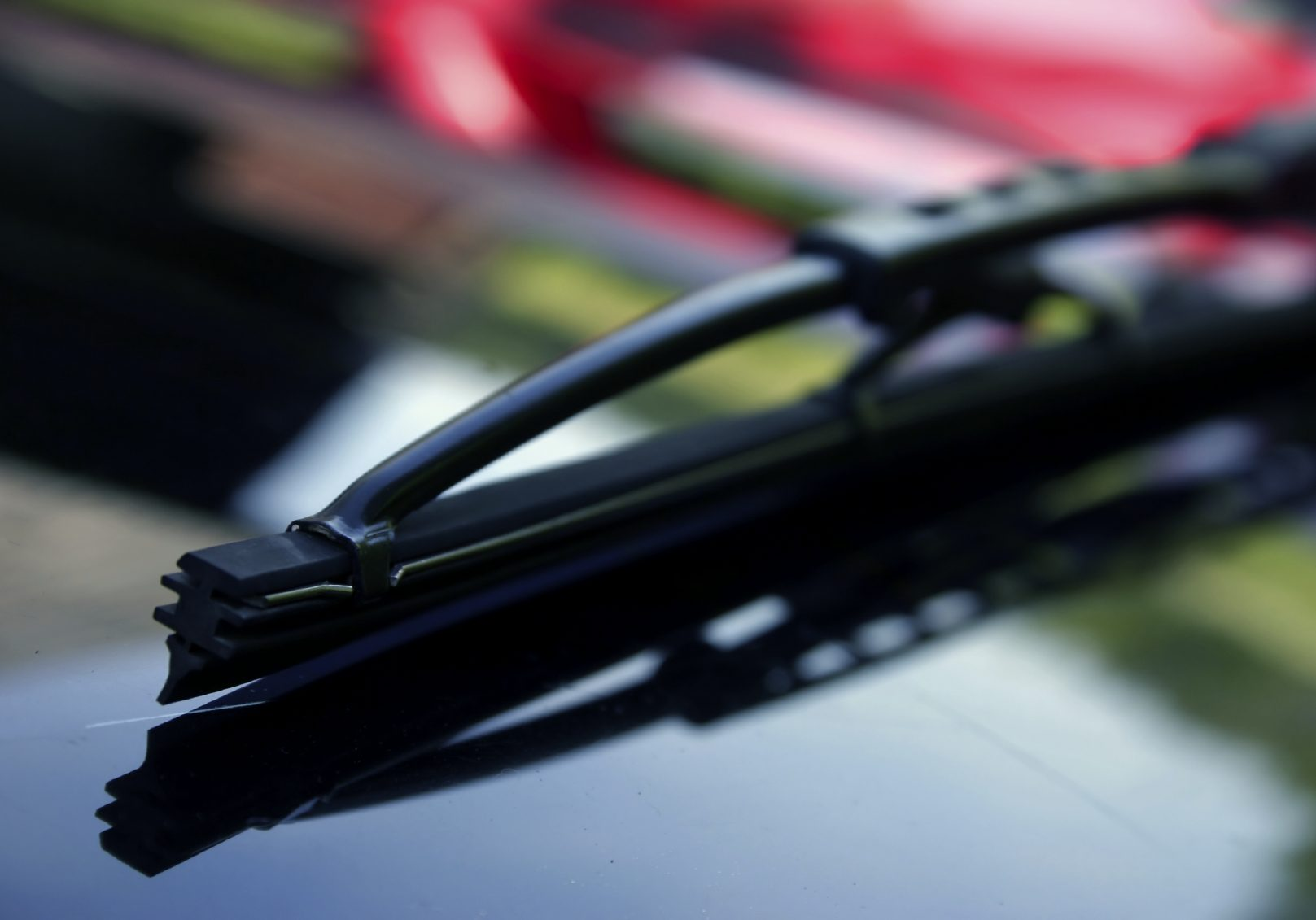 Image of a vehicle window wiper that may need a wiper replacement