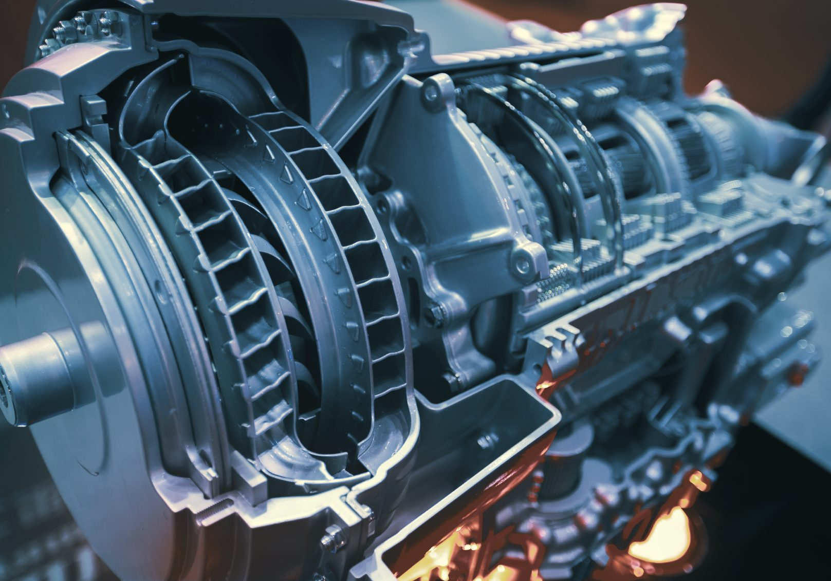 Image of a transmission that may be in need of a powertrain replacement